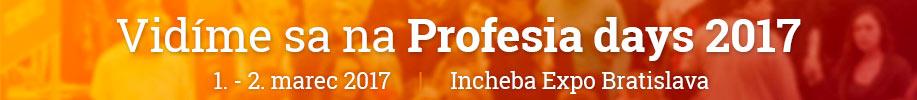 Spoločnosť sa zúčastní na veľtrhu práce Profesia days 2017